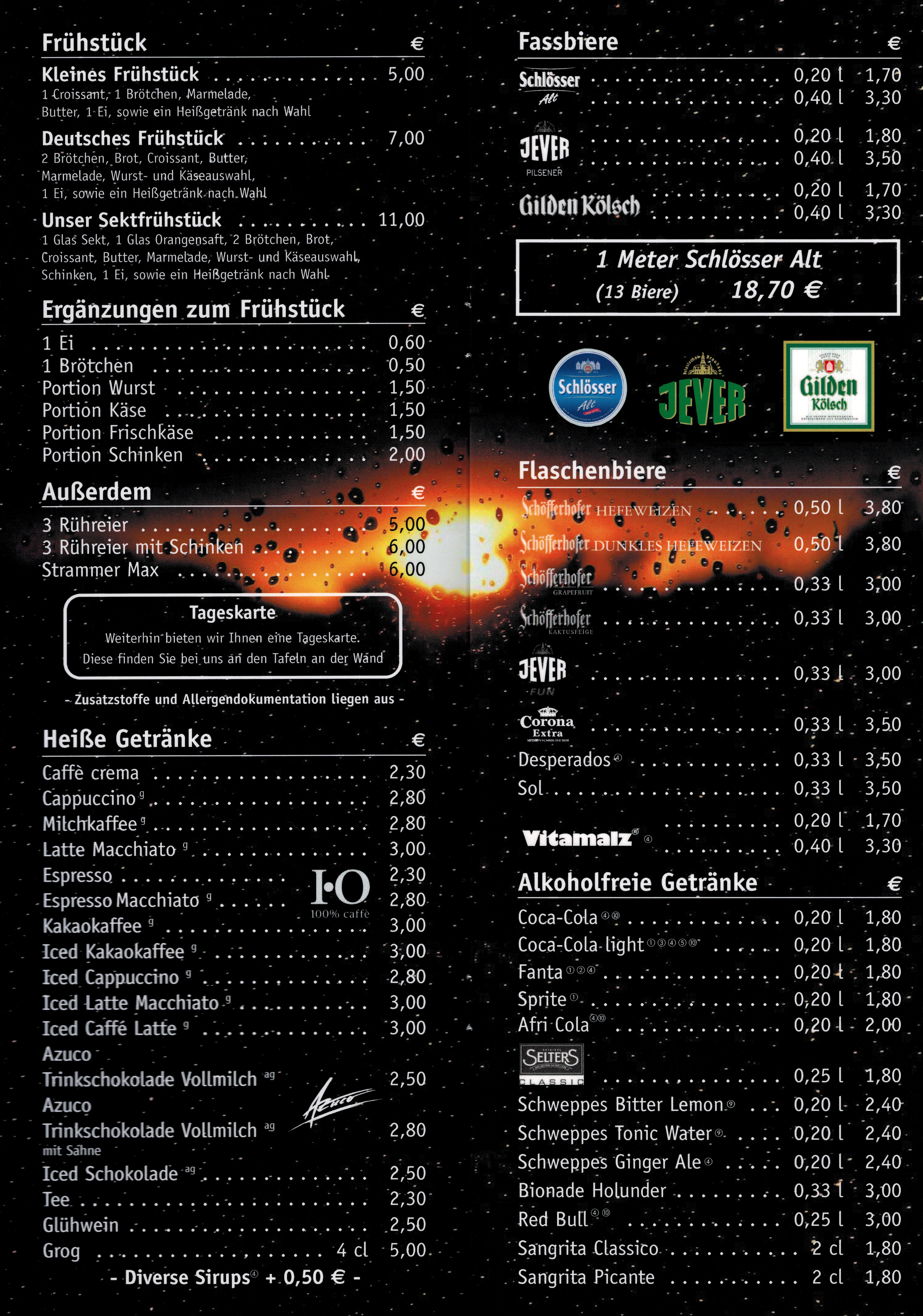 Getränkekarte Seite 1 - 2