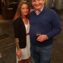 Michael Weinsberg und Nadine Nebel zum Geburtstag von Toralf im Ludwigs Bier und Brot